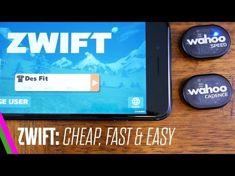 ZWIFT: Cheap & Easy Setup w/ iPhone & Wahoo RPM Speed/Cadence