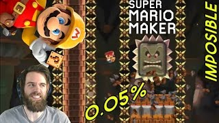99% IMPOSIBLE by ZetaSSJ | 0.05% Ground Pound Kaizo | Super Mario Maker
