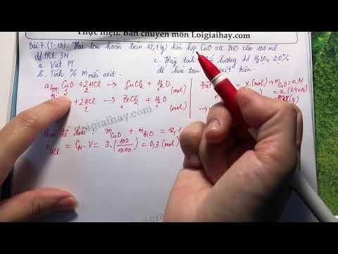 Giải bài 7 trang 19 SGK Hóa học 9