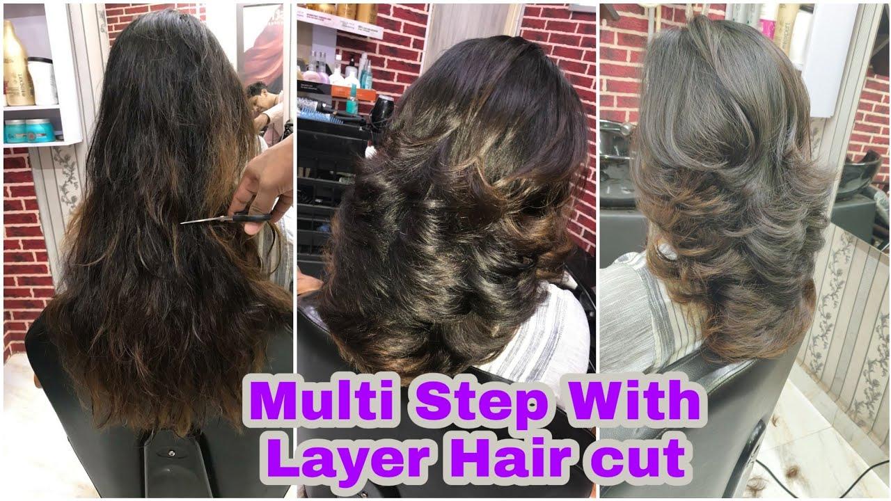 How to Step Hair cut In short Hairs 10/ Layer with step hair cut