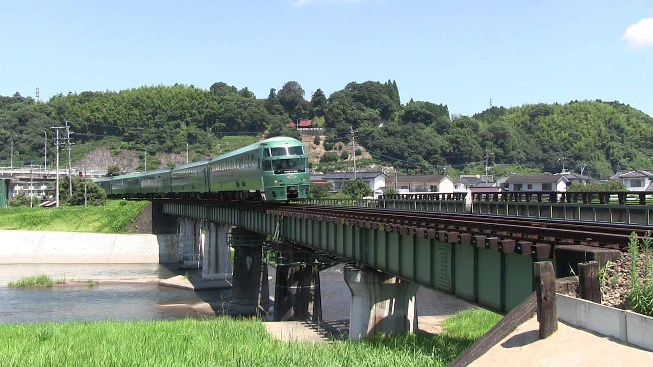 特急「ゆふいんの森1号」花月川橋梁にて