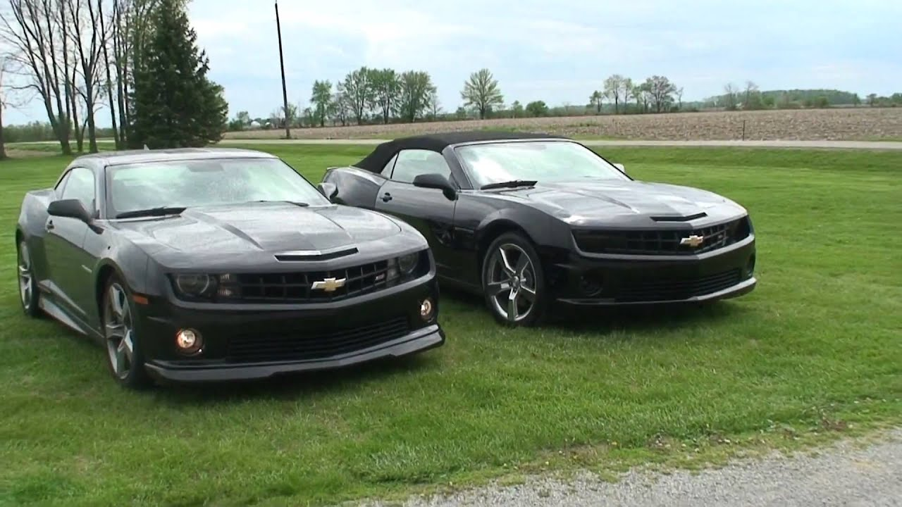 Here Is A Brand New Black Convertible Camaro Next To My Hardtop