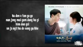 Chen (EXO) ft. Punch - Everytime Lyrics (karaoke with easy lyrics)