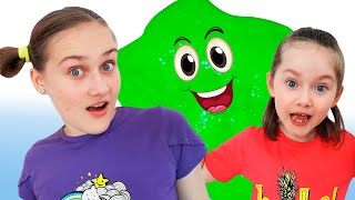 Liza and Dasha make a Giant slime