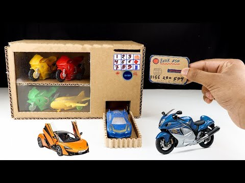 How to Make Car Vending Machine From Cardboard - DIY Toy Car Vending Machine With Credit card