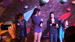 Women's Podium @ 2015 Petzl Di'namik Bouldering Comp @ The Front SLC