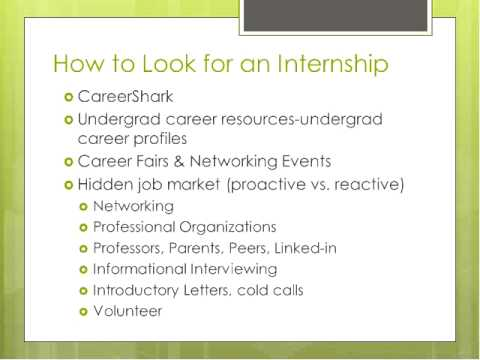 How to Get an Internship: College Students Tips