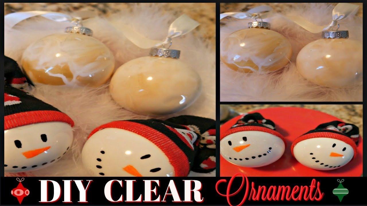 Diy Clear Ornaments Craftmas Day 9 2 Styles Fun Festive