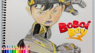 Nobita art - drawing boboiboy gempa (melukis boboiboy gempa)