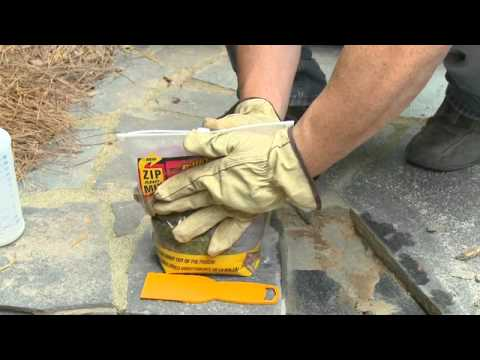 How to Repair Broken Flagstone Steps or a Patio with QUIKRETE Zip & Mix  Repair Mortar