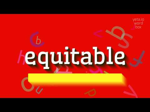 """How to say """"equitable""""! (High Quality Voices)"""