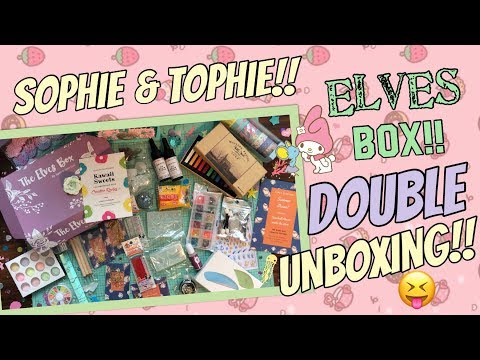 KAWAII CRAFT HAUL!!! ELVES BOX SUBSCRIPTION  DOUBLE UNBOXING!! SOPHIE & TOFFEE RESIN CRAFT HAUL 2018