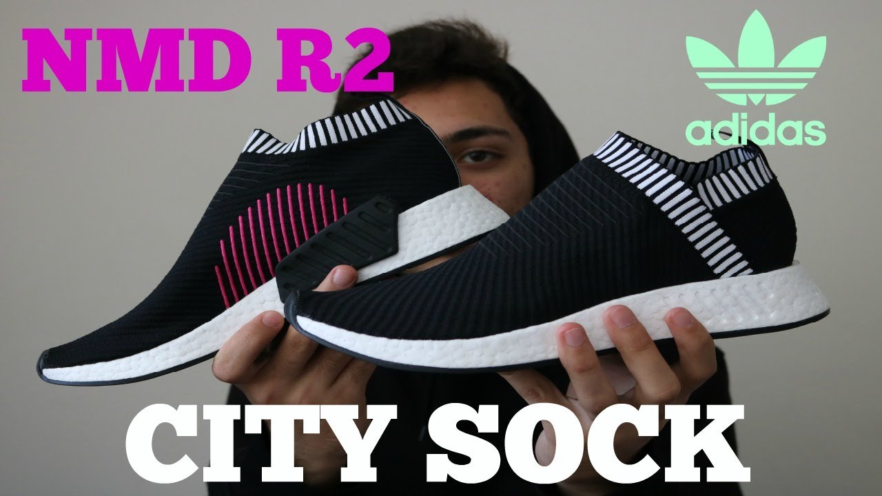 21eebc76df49 ADIDAS NMD CS2 PK CORE BLACK CITY SOCK R2 REVIEW - YouTube