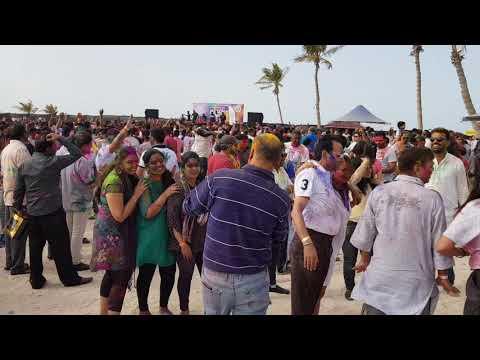 #Dubai #Holi Glimpse of Holi celebration in Dubai Mamzar Beach .. 2019