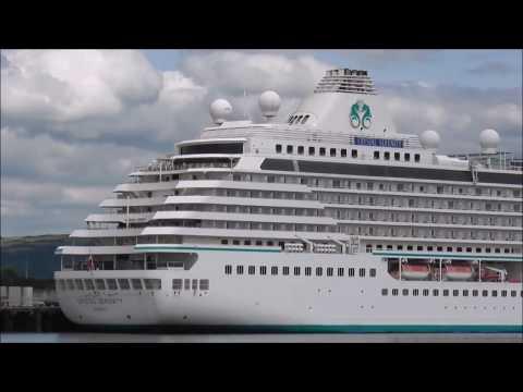 Crystal Serenity Cruise Ship Belfast Docks