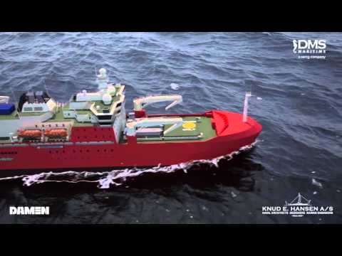 IceBreaker for Australian Antarctic Division by Damen/Knud E  Hansen