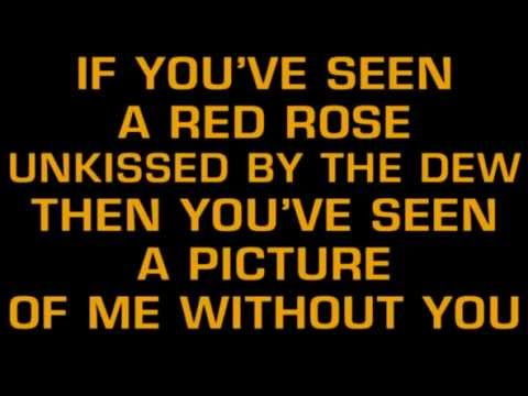 George Jones A Picture Of Me Without You Karaoke