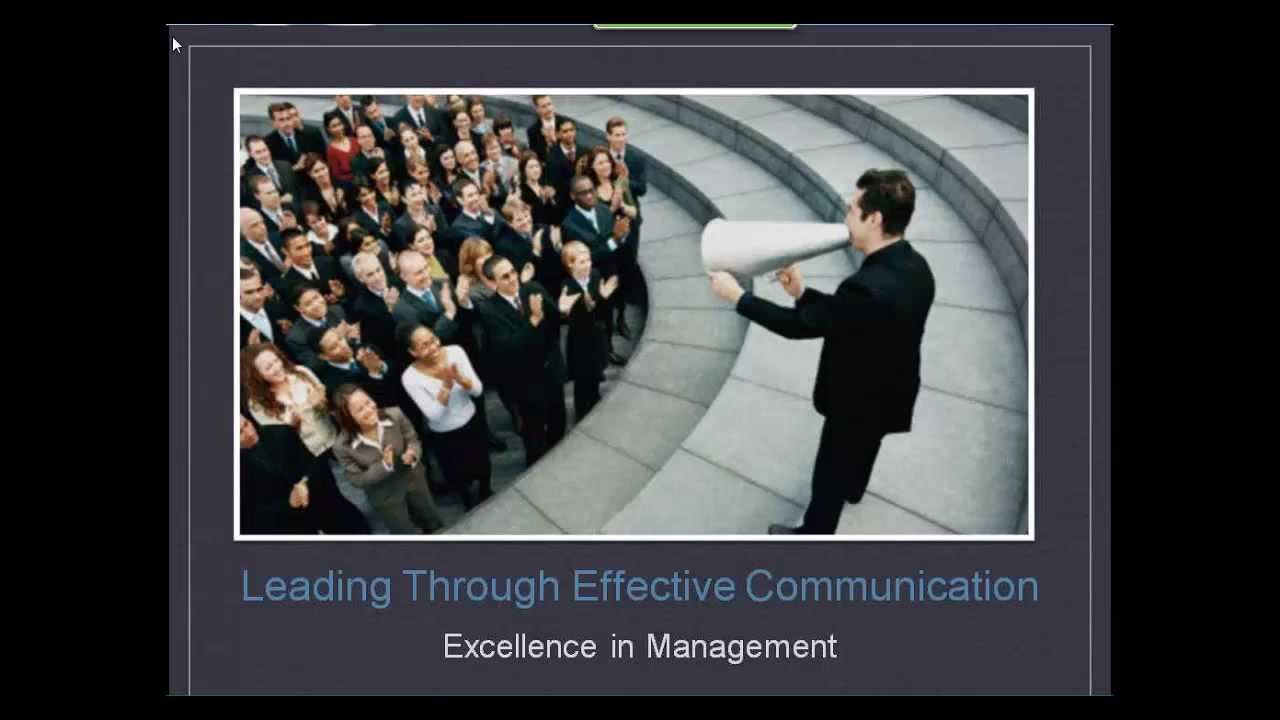 management and excellent communication skills
