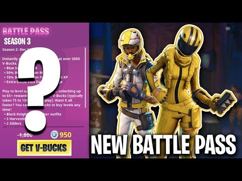 *NEW* SEASON 3 BATTLE PASS NEWS!! ( Fortnite Battle Royale Update )