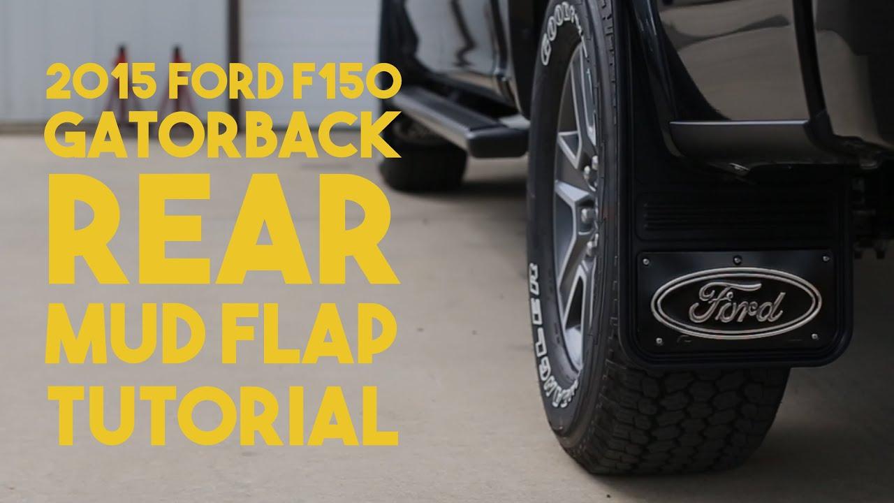 F Gatorback No Body Drill Rear Mud Flap Install Tutorial