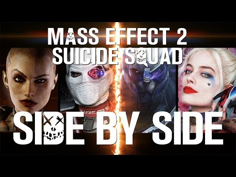 bioware, EA, Electronic Arts, video, game, Suicide Squad, Warner Brothers, DCEU, mashup, mash-up, trailer, side by side, crossover, DC, commander, shepard, harley quinn, Black Adam, Shazam