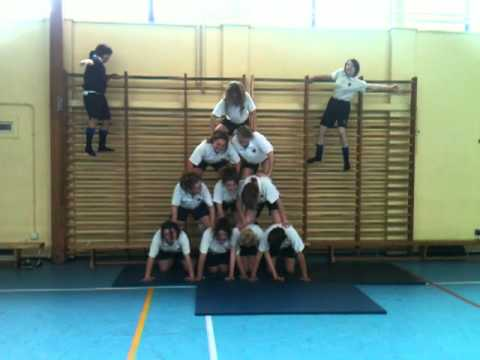 The Bankfield School - Year 10 Gymnastic Human Pyramid Fail 2011