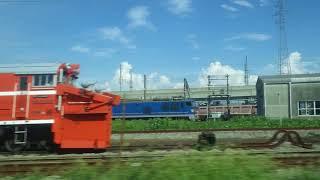 東富山~富山駅、あいの風とやま鉄道(旧北陸本線)、進行方向左側車窓から