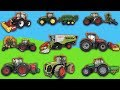 Tractor Farm with plow - Animals, Toys, Excavators, Trucks for kids