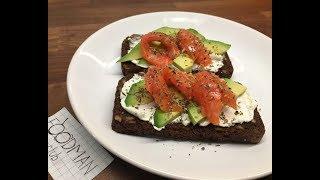 Бутерброд с авокадо и красной рыбой рецепт от Foodman club
