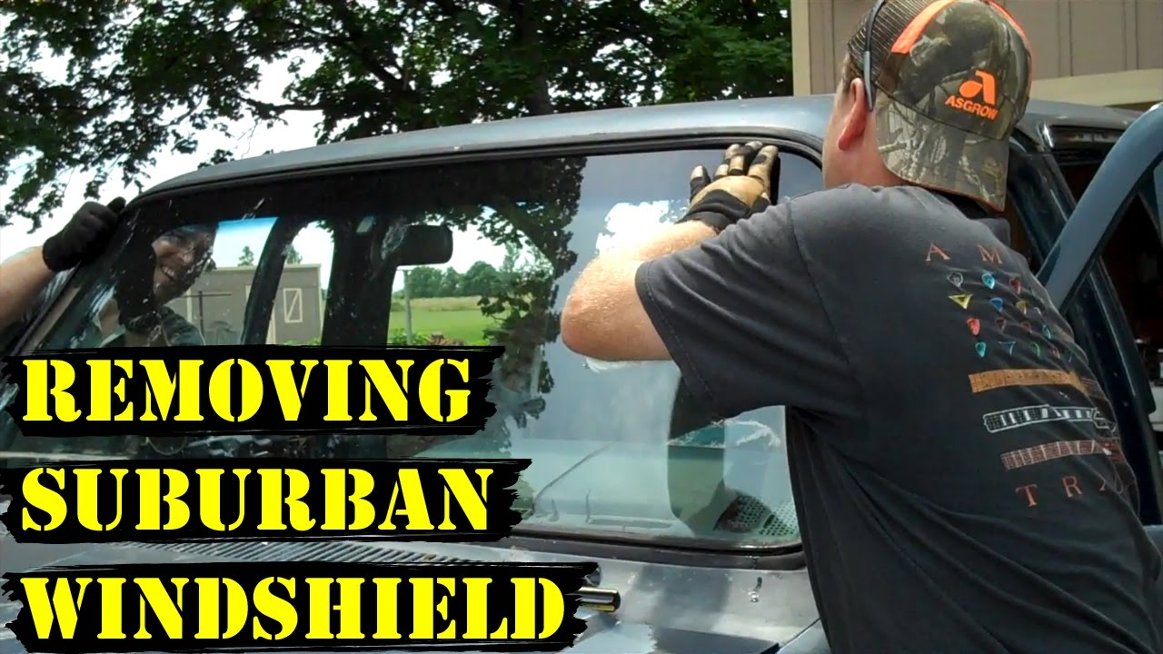 How to Remove a Suburban Windshield (Fast!) - YouTube