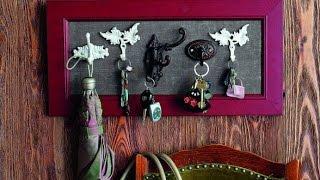 Обворожительные настенные ключницы своими руками. Красивые фото ключницы своими руками