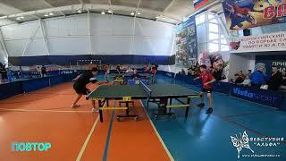 4к Виноградов Никита и Чичаев Николай. Турнир по настольному теннису город Гагарин 9-11 апреля