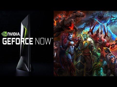 Играю в Dota 2 через GeForce NOW