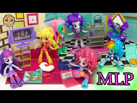Thumbnail: My Little Pony Equestria Girls Mini Dolls Elements of Friendship + Slumber Party Set