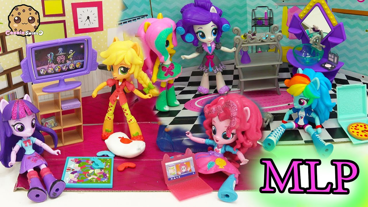 My Little Pony Equestria Girls Mini Dolls Elements Of Friendship Slumber Party Set