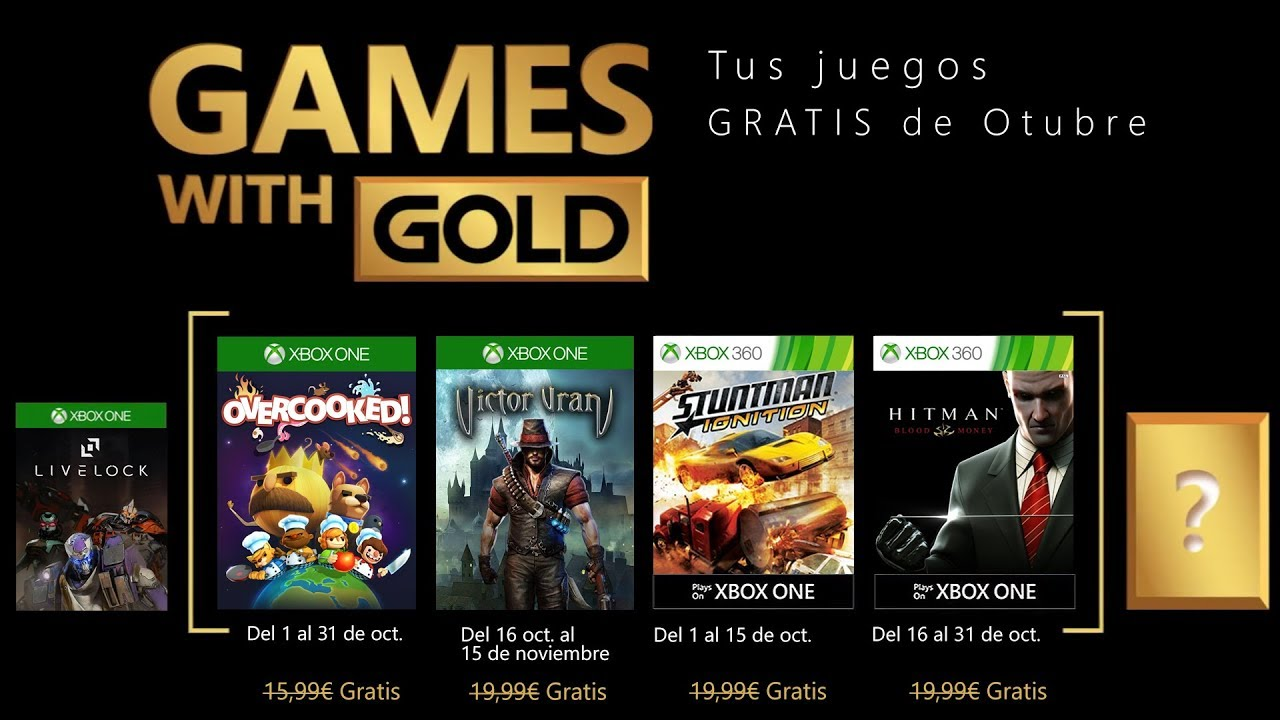Games With Gold Xbox One Y Xbox 360 Octubre 2018 Youtube