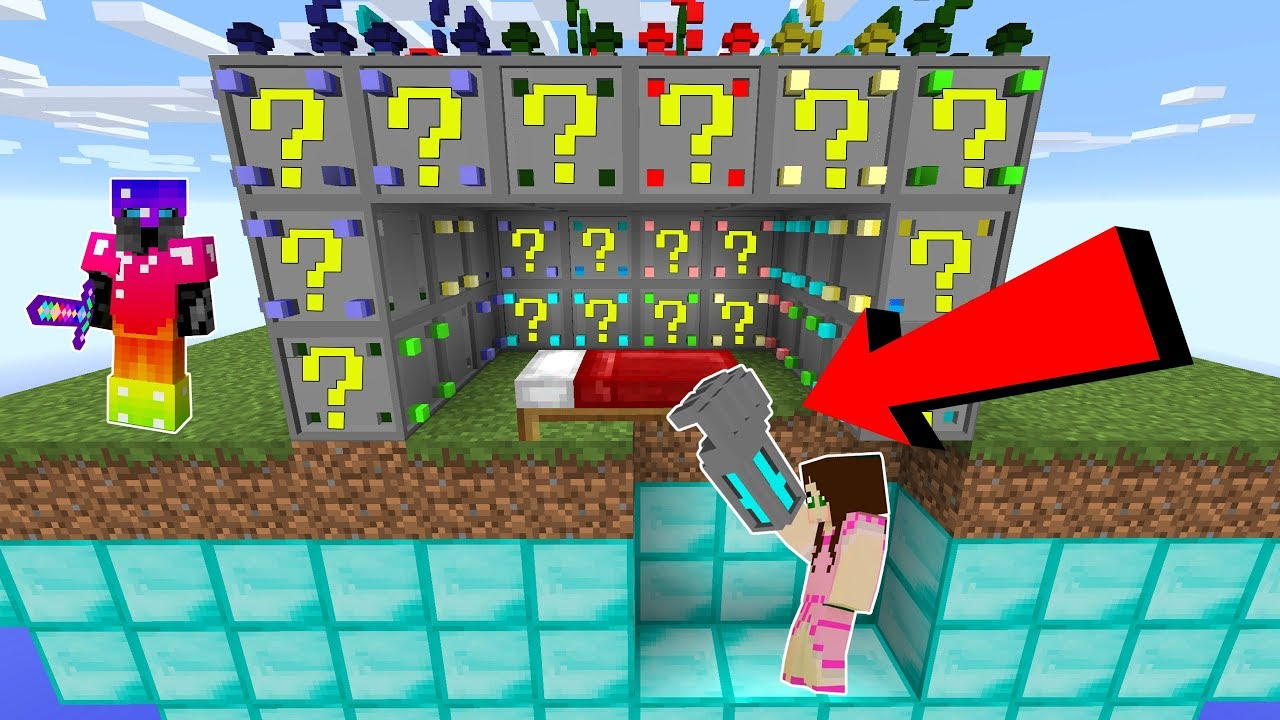 Minecraft Extreme Robotic Lucky Block Bedwars Modded Mini Game Youtube