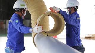 ROCKWOOL ProRox Pipe Section Installation