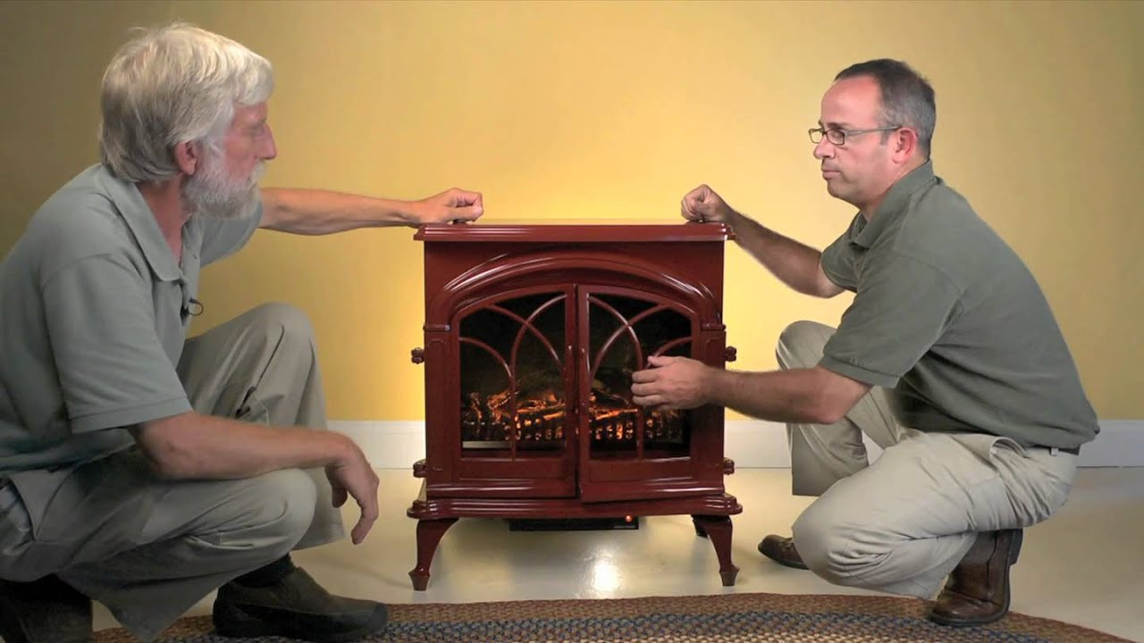 Shop all Electric Stoves: http://www.plowhearth.com/electric-fireplaces-and-electric-stoves.htm?aff=5383 Our exclusive Electric Stove will add a touch of war...