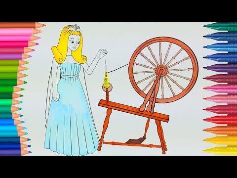 La Bella Addormentata 😴 - Principessa Aurora - Piccole Mani Libro da Colorale per Bambini