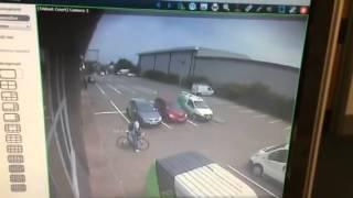 cctv of chrissie wellington's bike being stolen