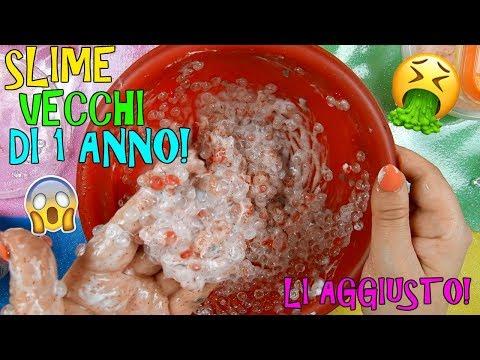 SLIME VECCHI DI UN ANNO! RIUSCIRO' AD AGGIUSTARLI!? (SLIME MAKEOVER!) Iolanda Sweets