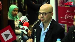 اتفرج| عمر طاهر يُوقع «إذاعة الأغاني» بديوان الزمالك