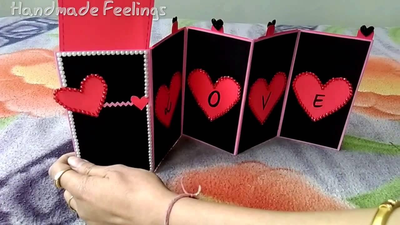 Love card handmade feelings youtube m4hsunfo