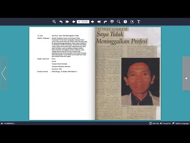 Paket Informasi Terseleksi - Tokoh Perfilman: Idris Sardi