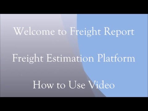 Freight Report How to Use Video