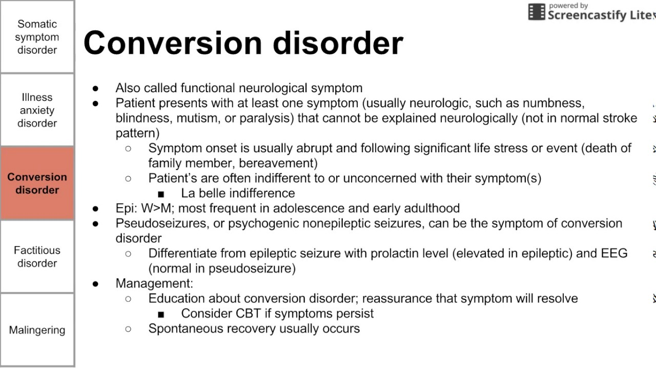 Somatic symptom and factitious disorders  YouTube
