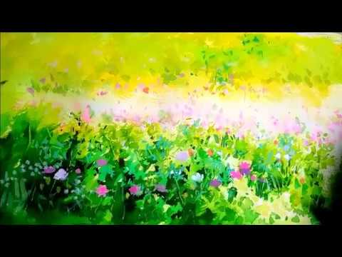 Landscape Acrylic & watercolor painting   Demonstration  풍경 수채화