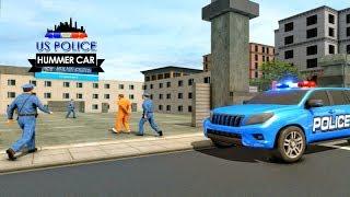 US Police Hummer Car Quad Bike Police Chase Game   Kieu Huong