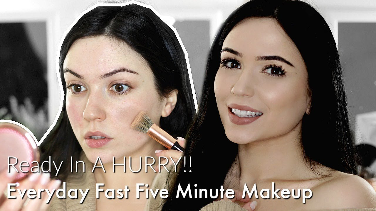 QUICK & EASY 5 MINUTE MAKEUP TUTORIAL | You can do it in your CAR!!